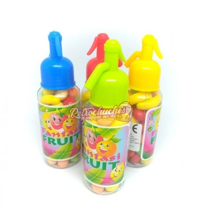 Sifon plástico rellena de Frutas o Mini Fruits