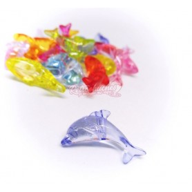 Delfines de la Suerte de plástico Colgantes