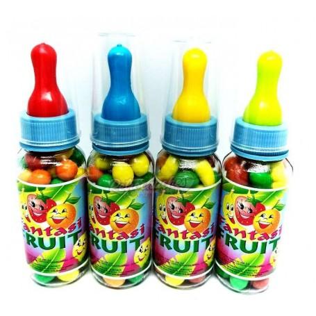 Biberon plástico relleno de Frutas o Mini Fruits