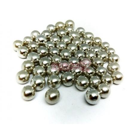 Perlas o Bolitas de Plata Grageas de Azúcar al peso