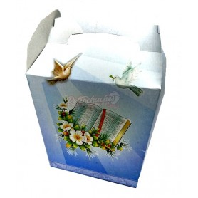 Caja Cartón Comunión Palomas y Cáliz Vacía