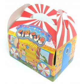 Caja o Cajita Cartón Cumpleaños para Chuches Circo Vacía