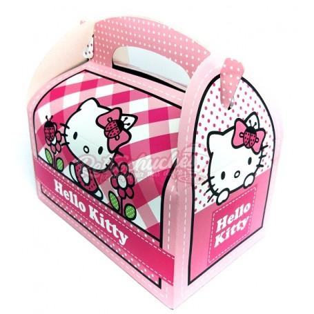 Caja Cartón  Hello Kitty Cumpleaños Vacía
