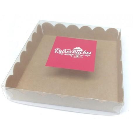 Caja Kraft con Ventana Transparente Pequeña