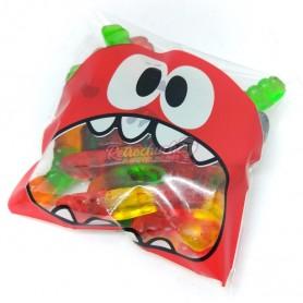 Bolsa Monstruo para Halloween con Gusanos de Gominola