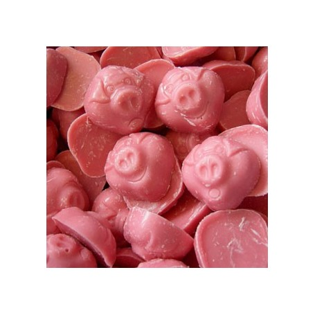 Cabezas de Cerdo o Cerditos de Chocolate Rosa Fresa