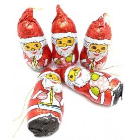 Papa Noel de Chocolate Pequeño con Cuerda o Hilo