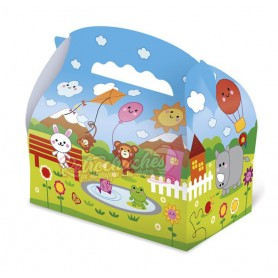 Caja Cartón  para Chuches Parque Infantil Vacía