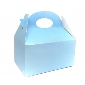 Caja Cartón Para Chuches Azul Celeste vacía