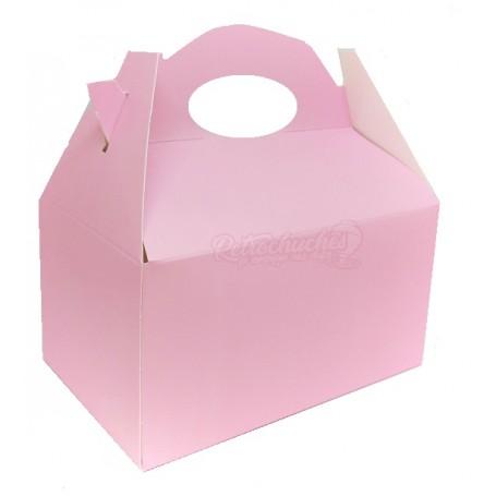Caja Cartón Para Chuches Lisa Rosa vacía