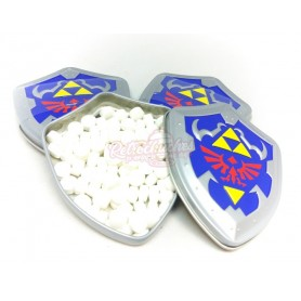 Zelda mints Caja de Caramelos de Menta Escudo con Trifuerza