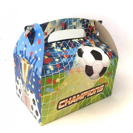Caja Cartón  para Chuches Balón de Fútbol Vacía