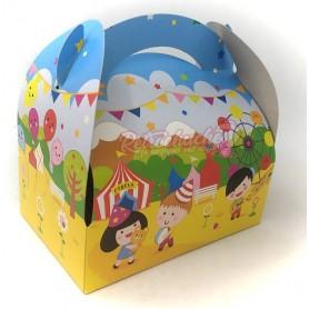 Caja Cartón  para Chuches Feria Infantil Vacía