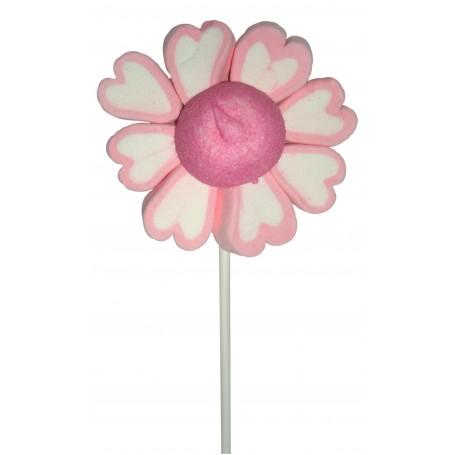 Brocheta de Flor Enamorado Corazones Rosa