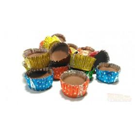 Bombones magdalena o capsulas de chocolate