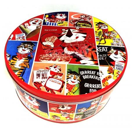 Caja Metálica Cereales Kellog Retro Redonda Vacía