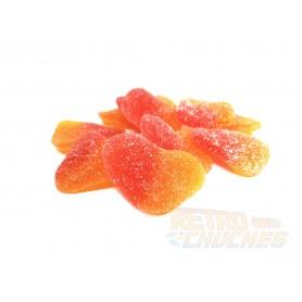 Corazón de gominola sabor melocotón (100 gramos)
