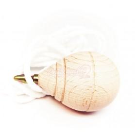 Peonza o trompo clásico de madera Pequeño con punta Carnicera sin Moño
