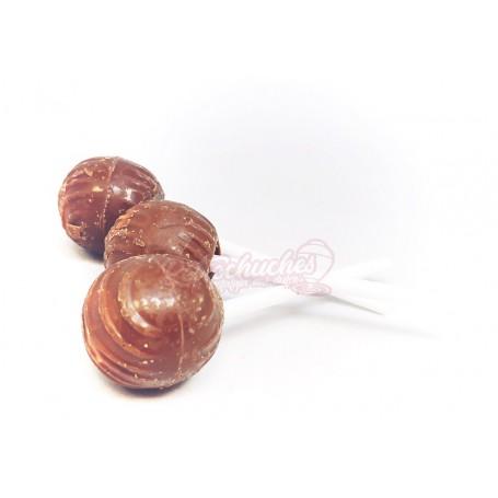 Chupa Chup Rondo de Chocolate con Leche y relleno de fresa