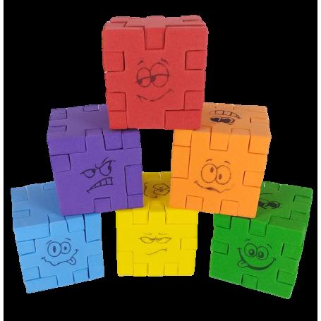 Cococrash Puzzle Rompecabezas Cubo 3D Goma Eva Evaland