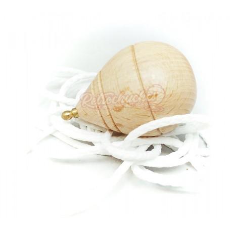Peonza o trompo clásico de madera Pequeño con punta Redonda sin Moño