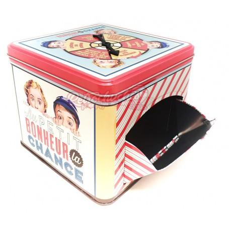 Caja Metálica de Galletas Retro Vintage Niños Vacía