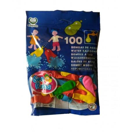 Globos de agua bolsa 100 unidades