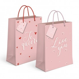 Bolsa Regalo Love you / Te Quiero XL