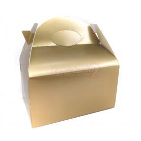 Caja Cartón Para Chuches Lisa Oro o Dorada vacía