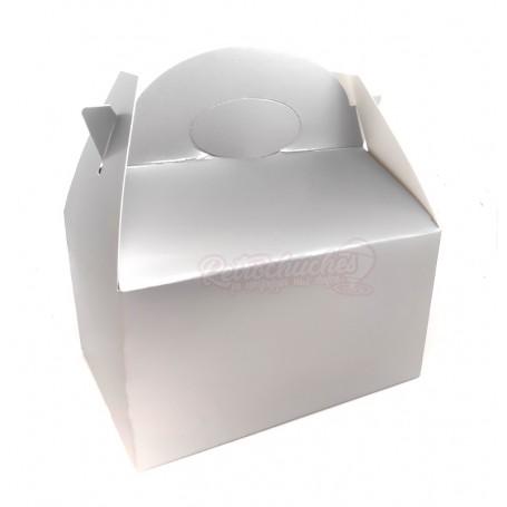 Caja Cartón Para Chuches Lisa Plata vacía
