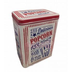 Caja Metálica Alta Retro Vintage Vacía Palomitas