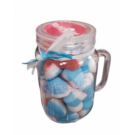 Jarra Plástico con Chuches Zumo de Amor Pitufo Azul