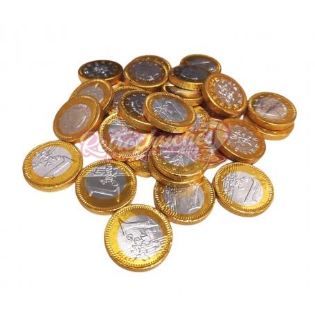Monedas de Chocolate Plata y Oro