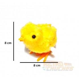 Pollo o pollito Amarillo con cuerda pequeño
