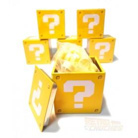 Super Mario Bros Caramelos en forma de Ladrillo o Bloque con Interrogación